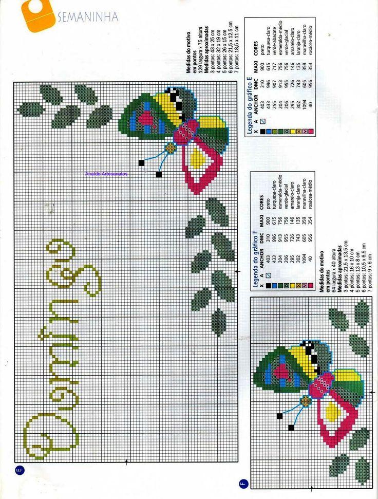 Anaide Ponto Cruz: Segunda parte de gráficos em ponto cruz de semaninhas,bom final de semana pra vocês!!!,