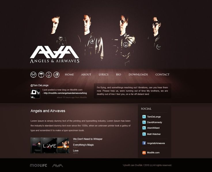 Angels and Airwaves mini site by Honya on DeviantArt