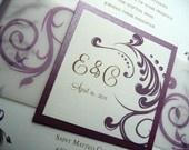 #DBBridalStyle Purple Wedding Invitations