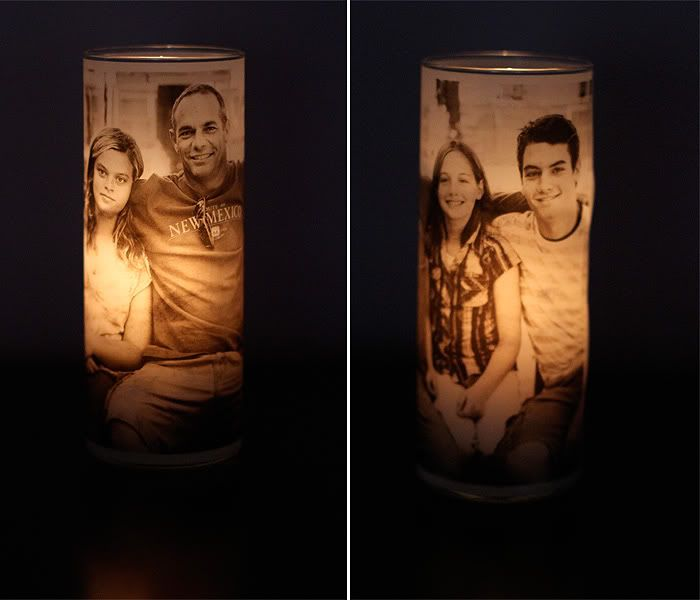 Print A Black And White Photo On Vellum Paper Wrap Around The Outside Of A Vase Insert A