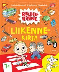 Reuhurinne Liikennekirja 7+ - Tekijä: Tiina Eskola, Jii Roikonen -Liikenne alkaa kotipihasta. Missä pidetään reppua, kun ajetaan pyörällä? Saako bussipysäkillä odottaessa leikkiä ja juosta? Tötterö ja Pikkis opettelevat liikennesääntöjä.