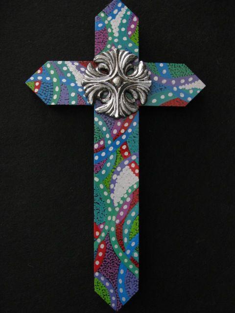 Kayharrellart Pretty Painted Cross Crosses Painted