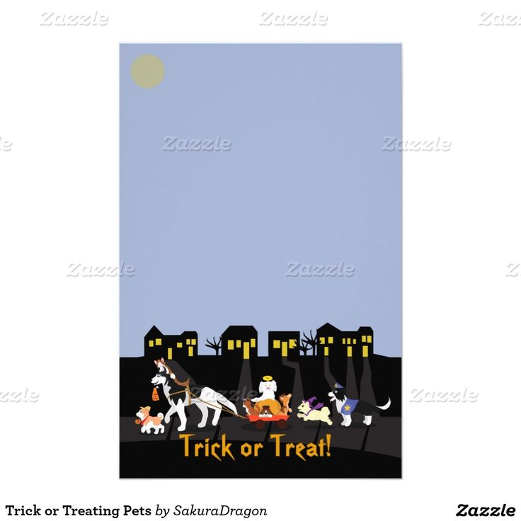 Trick or Treating Pets Stationery #Halloween #pets #dogs #cats #trickortreat