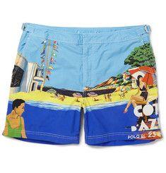 Polo Ralph LaurenMid-Length Printed Cotton Swim Shorts