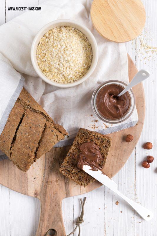 Gesundes Körnerbrot und Schokocreme ohne Zucker Rezept