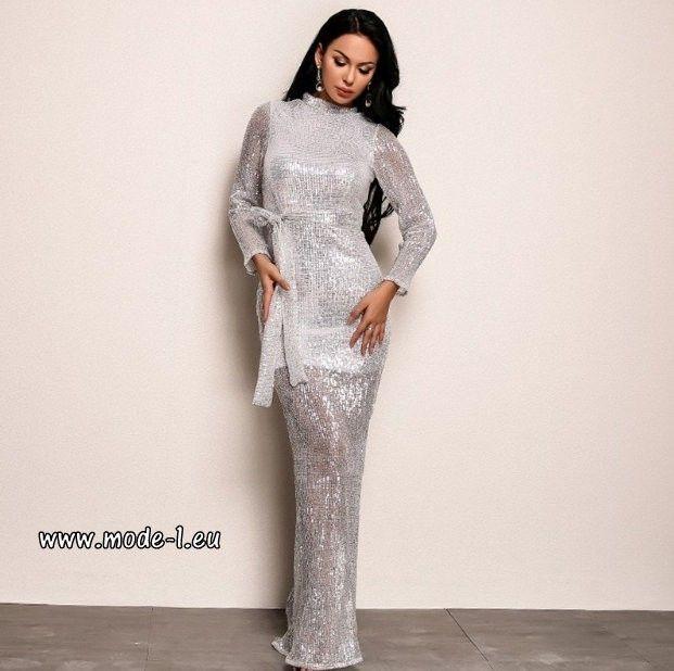 daf1d223ae7461 Party Clubwear Sexy Glitzer Kleid mit Pailletten in Silber #mode #damenmode  #kle…