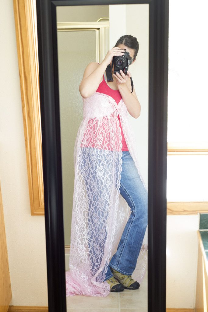 Make Your Own Lace Maternity Gown (A Photographer's Dream!) | Melody's Makings