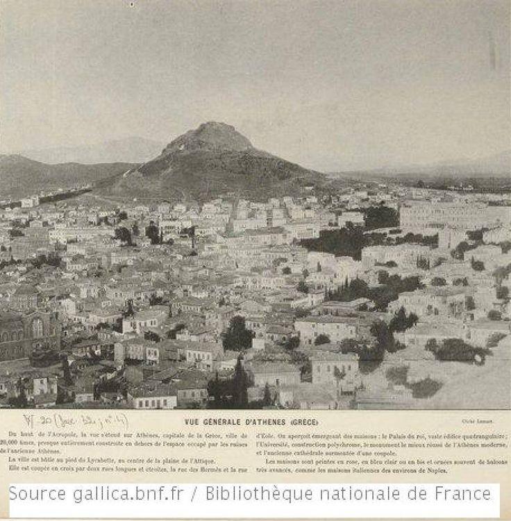 1895 ~ Lycabettus Hill, Athens