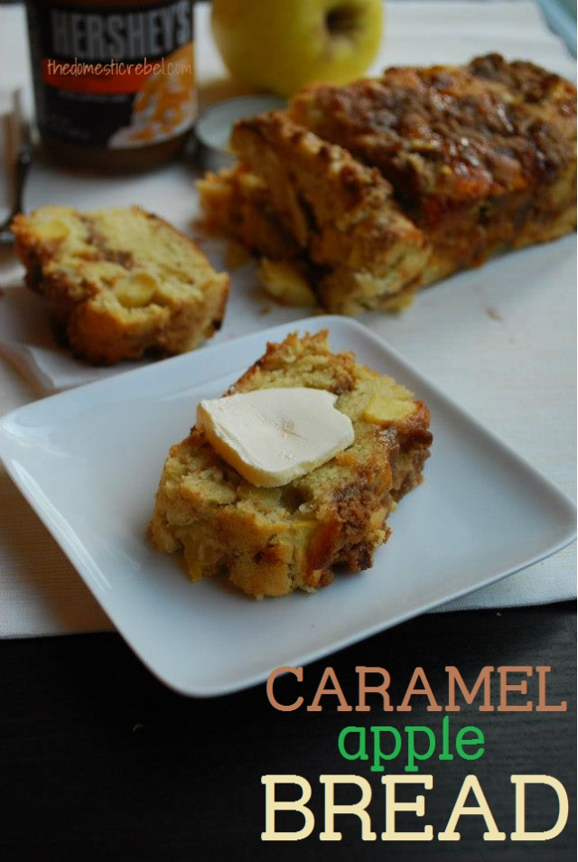 Caramel Apple Bread- this is great, 4 of us ate the whole thing at one sitting for dessert