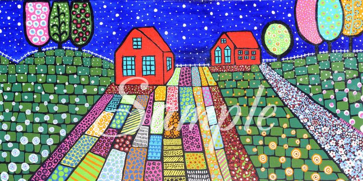 NONNO'S GARDEN Art Print by PositivelyArt on Etsy.Lush in botanicals and contrasting colours, you will feel positive energy with each glance.  www.positivelyart.ca