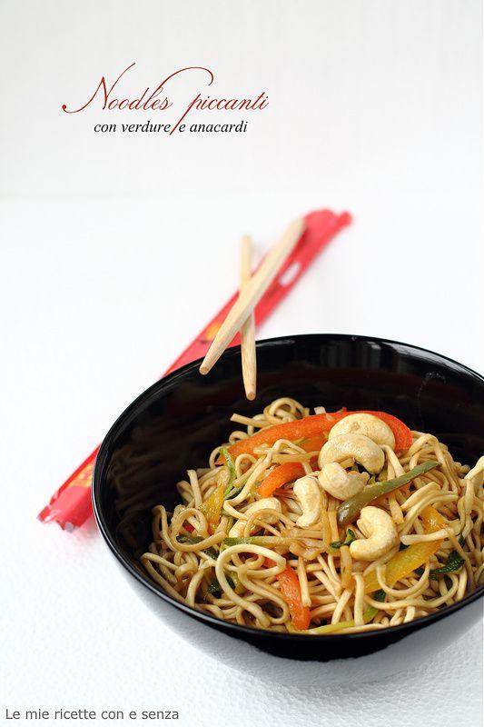 noodles di grano con verdure piccanti
