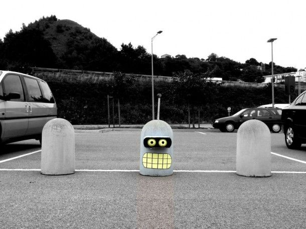 Street art having fun, by OakoAK