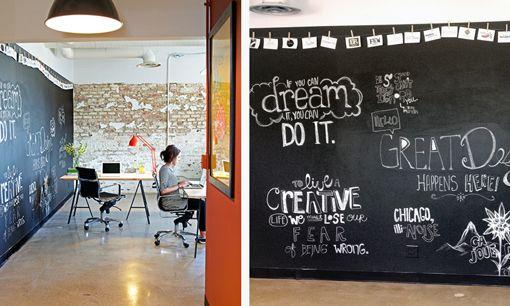 Chalkboard Walls In Office Space Office Space