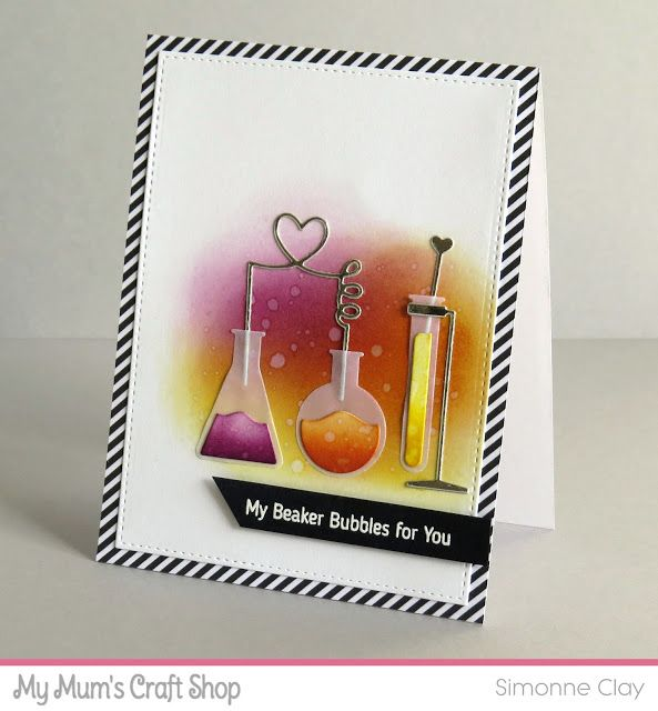 MFT Stamps: LLD Undeniable Chemistry | MFT Die-namics: Chemistry Set | CAS card | science
