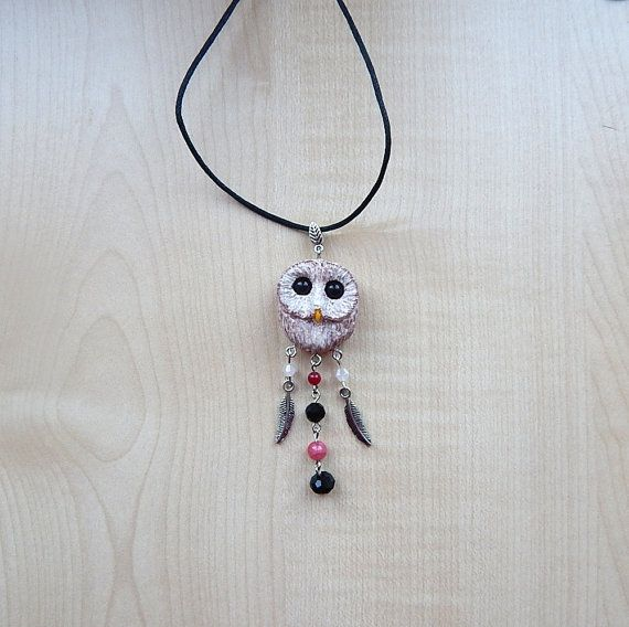 Barn-owl pendant women's jewelry animal jewelry by ViaLatteaArt