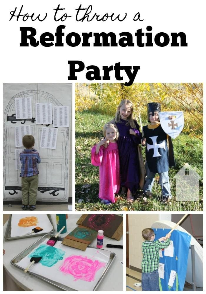 Find out how to throw a Reformation Party with your kids to learn about Martin Luther's work. This year is the 500th anniversary of The Reformation!