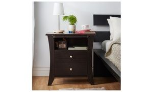 Groupon - Trista 2-Drawer Top Shelf Espresso Nightstand. Groupon deal price: $109.99