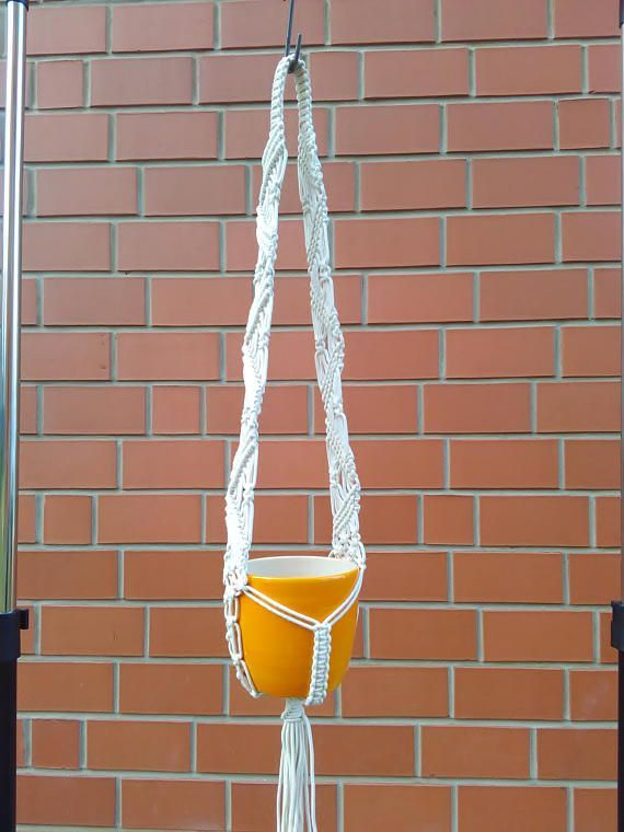 Macrame plant hanger, macrame hanging basket, large macrame hanging, home décor, hanging plants, indoor plant hanger, macrame wall hanging, hanging basket. This macrame flower hanger is designed and handmade by INStudioArt. Lovely handcrafted Macrame is made of 100% Cotton cord. The