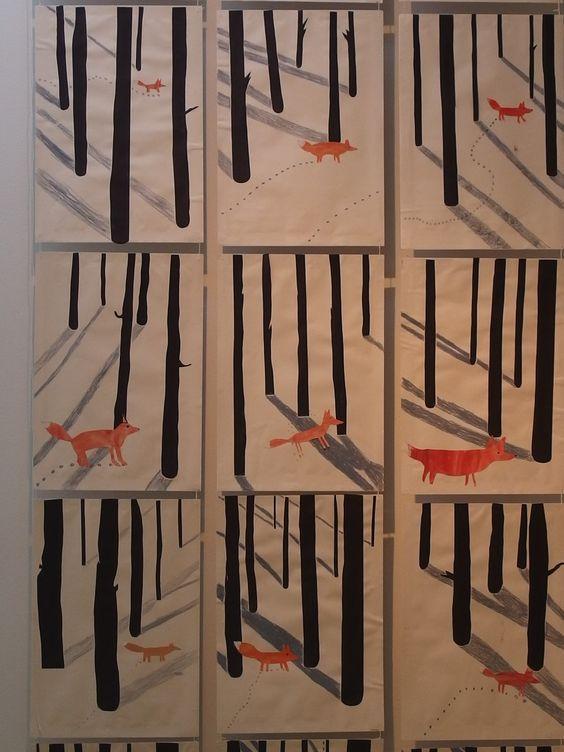 Fuchs im verschneiten Wald: