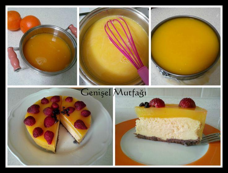 Portakallı Cheesecake Tarifi ve Yapılışı Mükemmel Yemek Tarifleri  https://www.facebook.com/geniselmutfagi