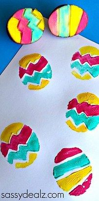 Get down with potato stamping. | 31 Unexpected Ways To Celebrate Easter With Kiddos