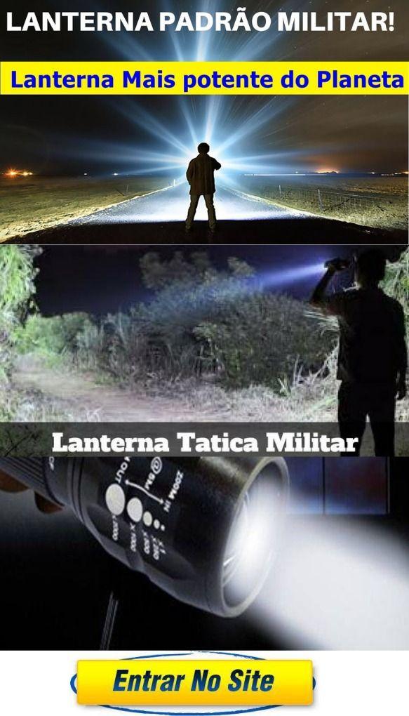 Original A Mais Potente Lanterna Militar Tatica Compacta E Super