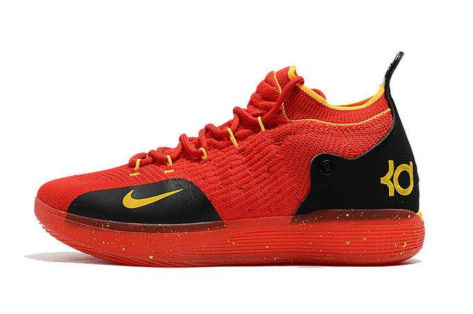 04a637d2a0f Where To Buy 2018 Nike Kd 11 University Red Black Yellow Shoe ...