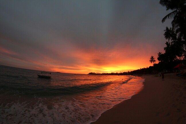 Sunset Mirissa Sri Lanka