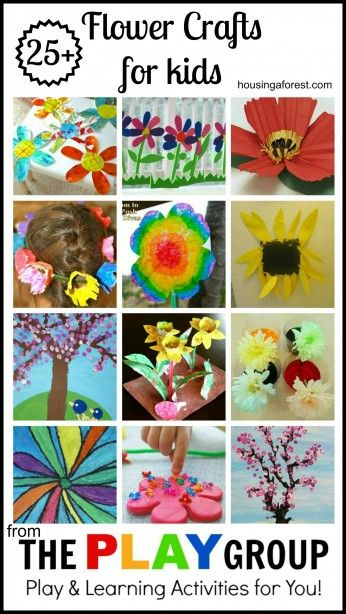 25+ Flower Crafts for kids ~ fun spring flower crafts. Love the spring cherry tree, Georgia OKeefe flower and egg carton fairy wreath