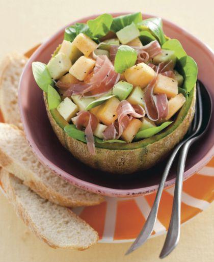 Recept voor salade met meloen en parmaham