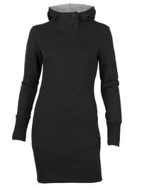 This heavy knit organic cotton tunic, made in Quebec, is both warm and stylish.
