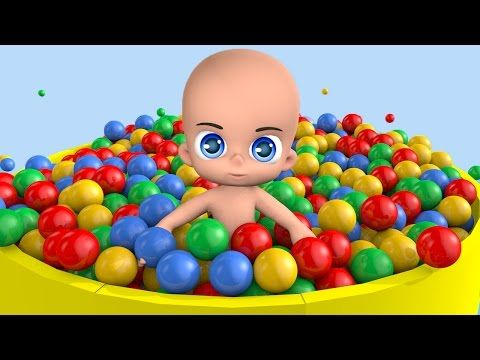 Baby Bath in Ball-pit | LEARN BALLS | 3D baby doll bath time - YouTube