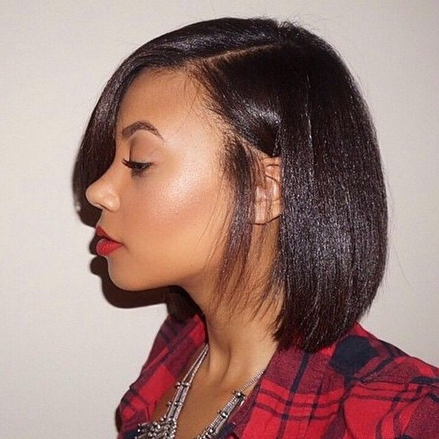 Excellent Neck Length Medium Hairstyles For Black Women Bobhairstylesforblackwomen Neck Length Hair Medium Hair Styles Hair Styles