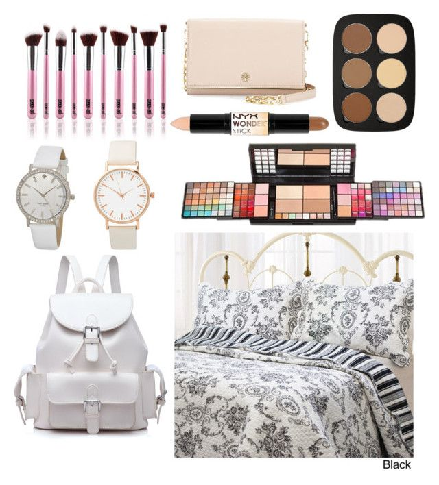 """Untitled #15"" by suvisfi on Polyvore featuring beauty, NYX, Anastasia Beverly Hills, e.l.f., Tory Burch and Kate Spade"