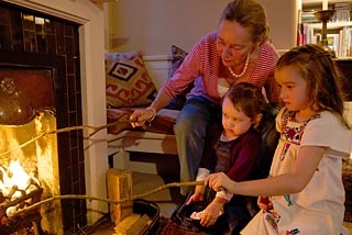SMH - story on home fire places.  (Cute dress Izzy)