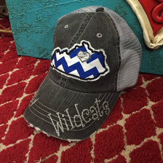 University of Kentucy Wildcats Cats State Baseball Bling Ladies Womens Trucker Hat by Chasing Elly