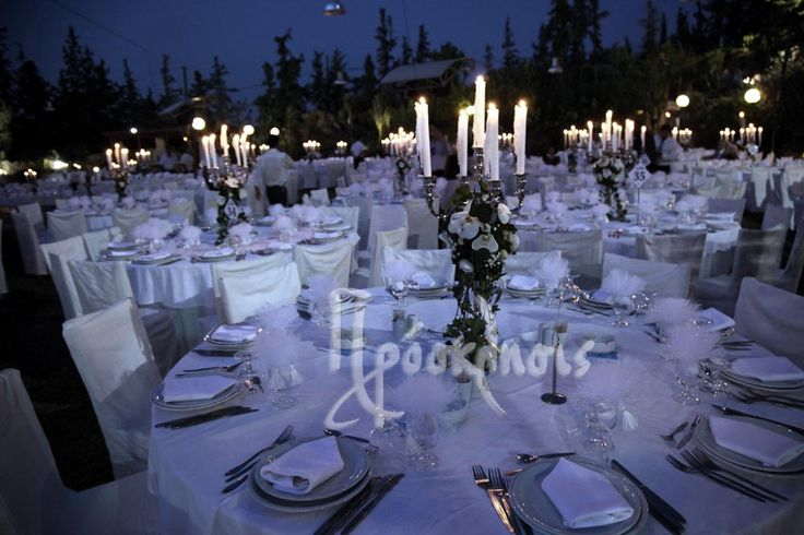 wedding reception decoration with chandeliers