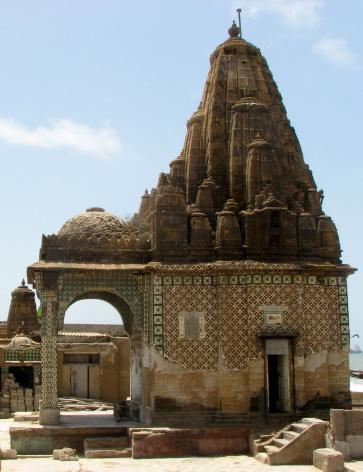 Hindu temple is situated in Manora island, Karachi Pakistan.