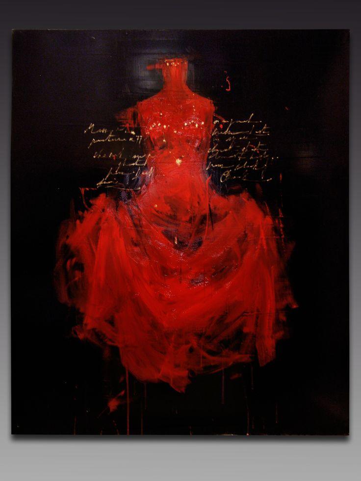 Red Velvet,  Luca Bellandi, olio su tela, 100 x 120