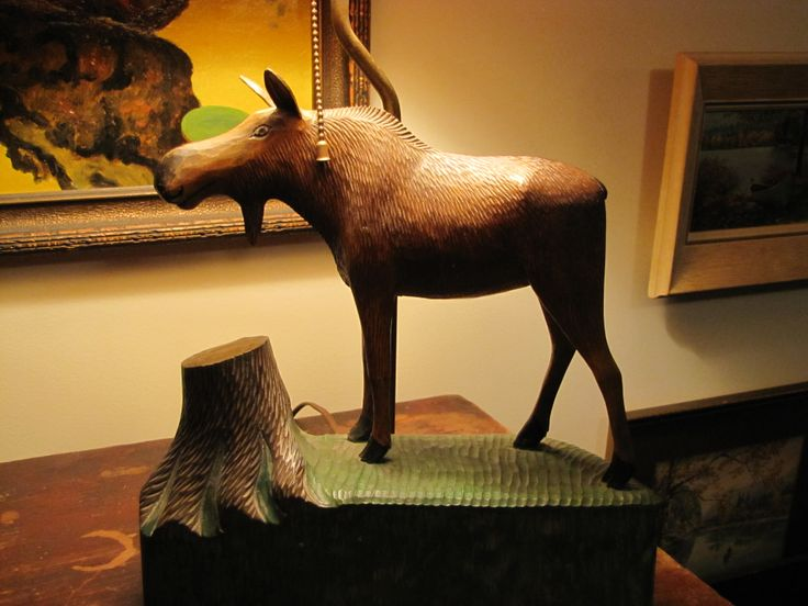 This is my moose lamp.