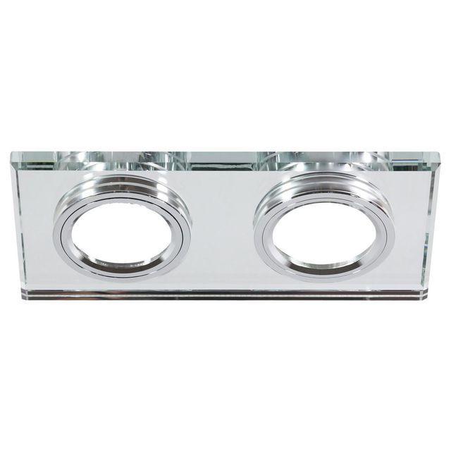 Pierścień ze szkłem do SS-21 CH/TR DUAL prostokąt transparent 2 x 50 W CANDELLUX