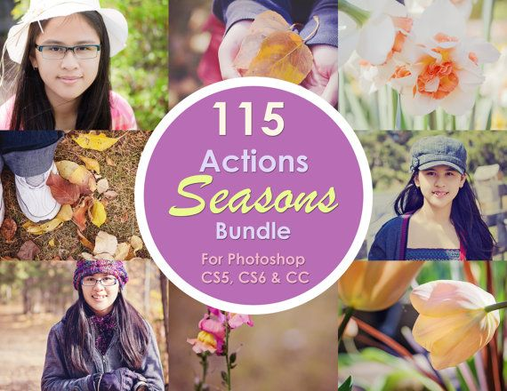 115 Actions - Seasons Bundle Photoshop Actions for CS5 CS6 & CC by ColourThemPretty, $18.00