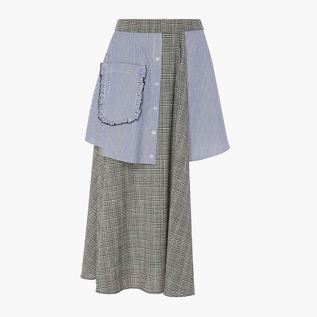 """""""The clashing prints and proportions on this Sandy Liang skirt should be wrong, but feel so right."""" —Monica Kim, Vogue.com Beauty…"""