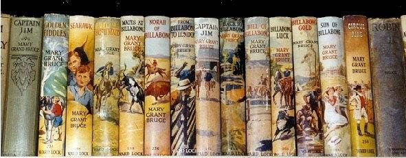 Mary Grant Bruce...my beloved Billabong books. The entire set have travelled the world with me.