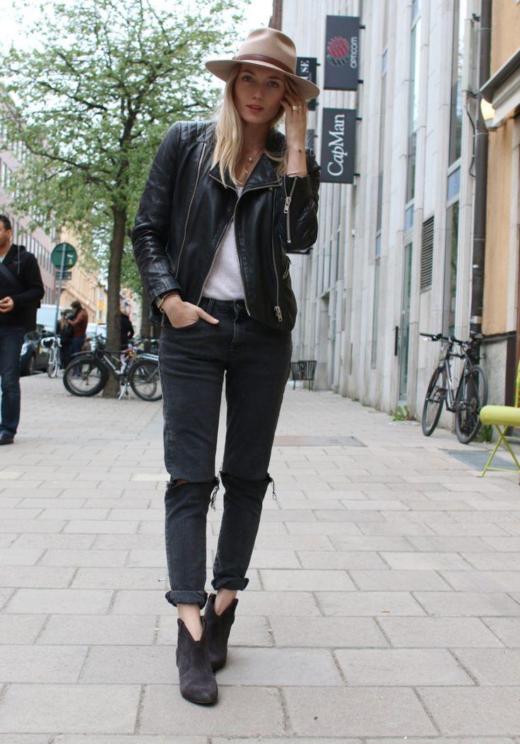 leather & denim #style #fashion