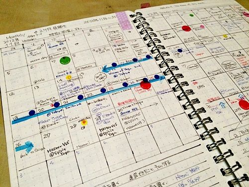 CHIGUSAさんの手作り手帳(マンスリー)