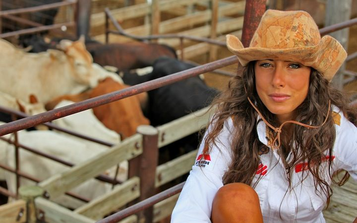 FEDERICA PRESSO L'OKLAHOMA NATIONAL STOCKYARDS