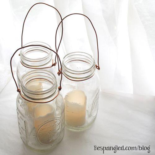 DIY Hanging Mason Jar Lanterns - use for your wedding or for home & garden decor!