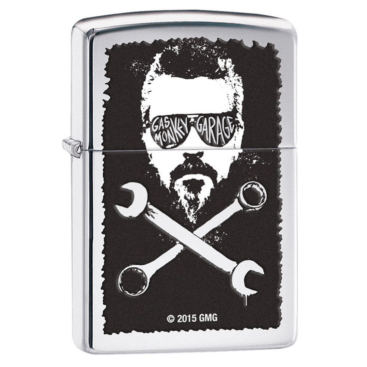 Zippo Gas Monkey Head and Wrench Crossbones Windproof Lighter