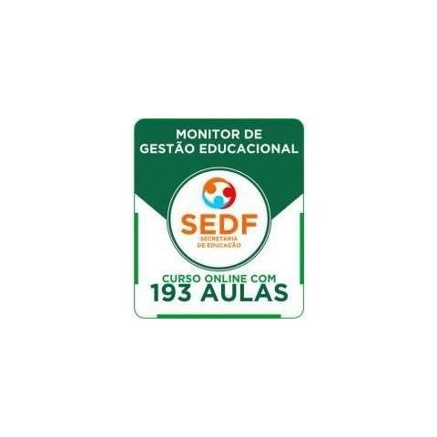 Curso Online Sedf 2016 - Monitor De Gestão Educacional 2016